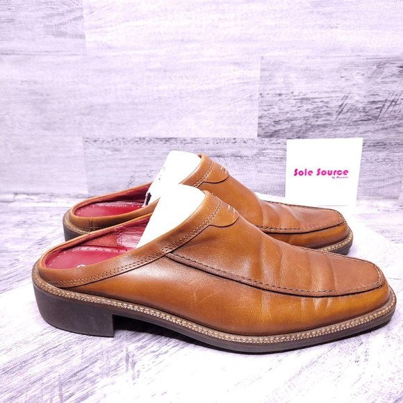ECCO Leather Slip on Mules Brown 41